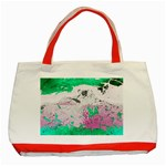 Crackling Green Classic Tote Bag (Red)