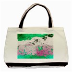 Crackling Green Basic Tote Bag (Two Sides)