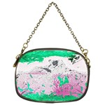 Crackling Green Chain Purse (One Side)