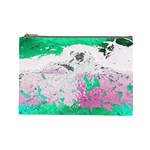 Crackling Green Cosmetic Bag (Large)