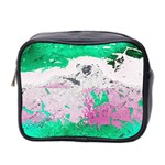 Crackling Green Mini Toiletries Bag (Two Sides)