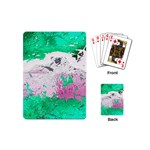 Crackling Green Playing Cards Single Design (Mini)