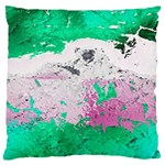 Crackling Green Large Cushion Case (One Side)