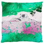 Crackling Green Large Flano Cushion Case (Two Sides)