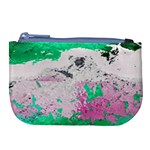 Crackling Green Large Coin Purse