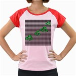 Houndstooth Leaf Women s Cap Sleeve T-Shirt