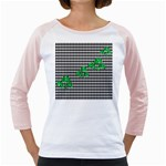 Houndstooth Leaf Girly Raglan