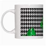 Houndstooth Leaf White Mugs
