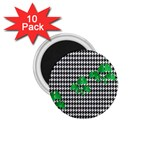 Houndstooth Leaf 1.75  Magnets (10 pack)