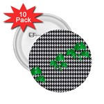Houndstooth Leaf 2.25  Buttons (10 pack)