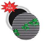 Houndstooth Leaf 2.25  Magnets (10 pack)