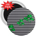 Houndstooth Leaf 3  Magnets (100 pack)