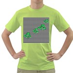 Houndstooth Leaf Green T-Shirt