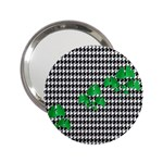 Houndstooth Leaf 2.25  Handbag Mirrors