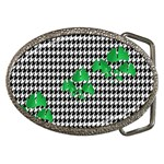 Houndstooth Leaf Belt Buckles