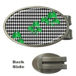 Houndstooth Leaf Money Clips (Oval)