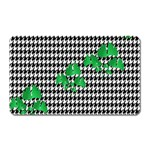 Houndstooth Leaf Magnet (Rectangular)