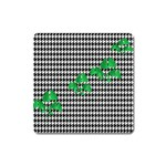 Houndstooth Leaf Square Magnet