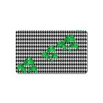 Houndstooth Leaf Magnet (Name Card)