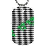 Houndstooth Leaf Dog Tag (One Side)