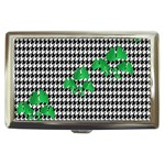 Houndstooth Leaf Cigarette Money Case