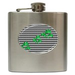 Houndstooth Leaf Hip Flask (6 oz)