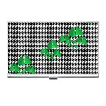 Houndstooth Leaf Business Card Holder