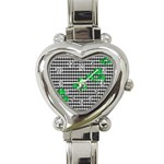 Houndstooth Leaf Heart Italian Charm Watch