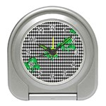 Houndstooth Leaf Travel Alarm Clock