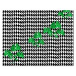 Houndstooth Leaf Rectangular Jigsaw Puzzl
