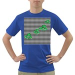 Houndstooth Leaf Dark T-Shirt