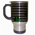Houndstooth Leaf Travel Mug (Silver Gray)