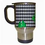 Houndstooth Leaf Travel Mugs (White)
