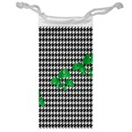 Houndstooth Leaf Jewelry Bag