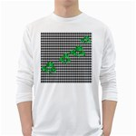 Houndstooth Leaf Long Sleeve T-Shirt