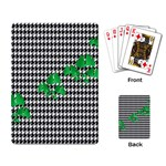 Houndstooth Leaf Playing Cards Single Design (Rectangle)