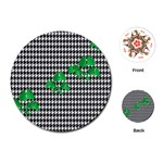 Houndstooth Leaf Playing Cards Single Design (Round)