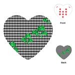 Houndstooth Leaf Playing Cards Single Design (Heart)