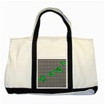Houndstooth Leaf Two Tone Tote Bag