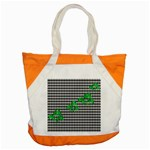 Houndstooth Leaf Accent Tote Bag
