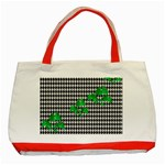 Houndstooth Leaf Classic Tote Bag (Red)