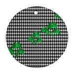Houndstooth Leaf Round Ornament (Two Sides)