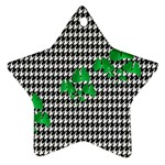 Houndstooth Leaf Star Ornament (Two Sides)