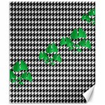 Houndstooth Leaf Canvas 8  x 10