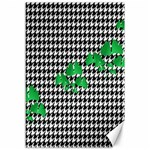 Houndstooth Leaf Canvas 12  x 18