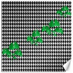Houndstooth Leaf Canvas 16  x 16