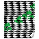 Houndstooth Leaf Canvas 16  x 20