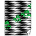 Houndstooth Leaf Canvas 18  x 24