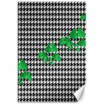 Houndstooth Leaf Canvas 20  x 30