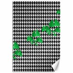 Houndstooth Leaf Canvas 24  x 36